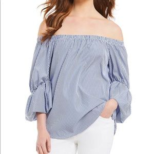 Gibson Latimer 3/4 sleeve stripped top